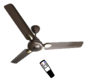 Brown Color Remote Operated BLDC Ceiling Fan