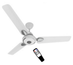 White Color Remote Operated BLDC Ceiling Fan
